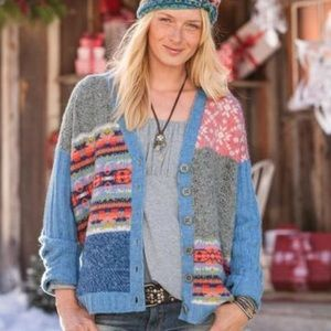 🧡SALE🧡Sundance Purely Patchwork Cardigan Sweater